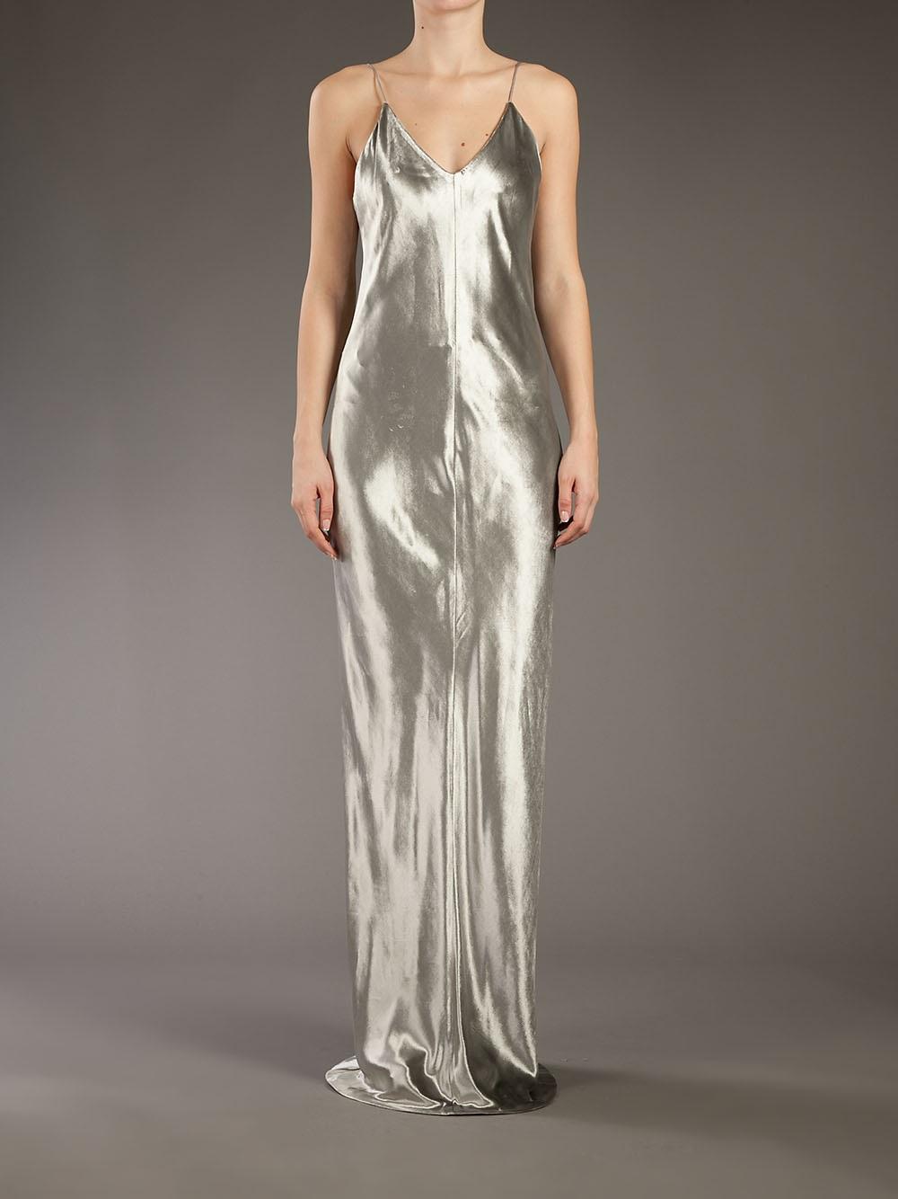 T By Alexander Wang Metallic Evening Dress in Metallic - Lyst
