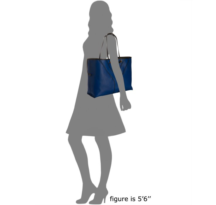 Saint laurent Neo Double Reversible Tote in Blue | Lyst