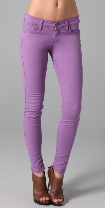 purple skinny jeans - Jean Yu Beauty