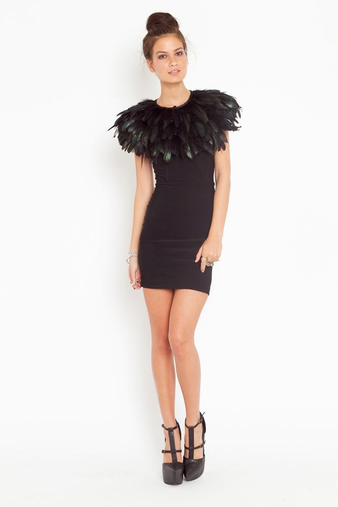 Lyst Nasty Gal Ostrich Feather Collar In Black
