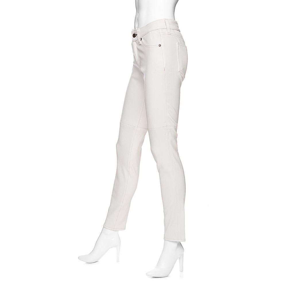 5b88778ba603 Lyst - Rag   Bone Exclusive Midrise Skinny Leather Jeans  White in White