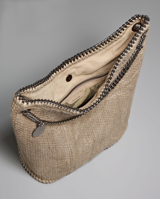 Stella mccartney Cotton Tricot Bucket Bag in Beige | Lyst
