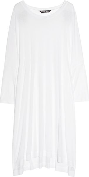 Thomas Wylde Seeing Double Embellished Fine-Jersey Tunic in White