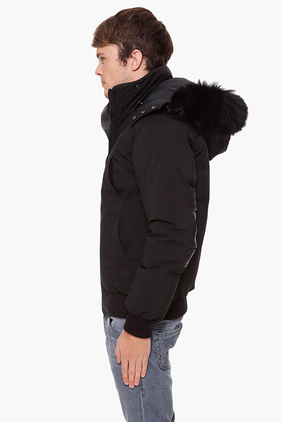 Lyst Cmfr Fur Trim Oxton Jacket In Black For Men