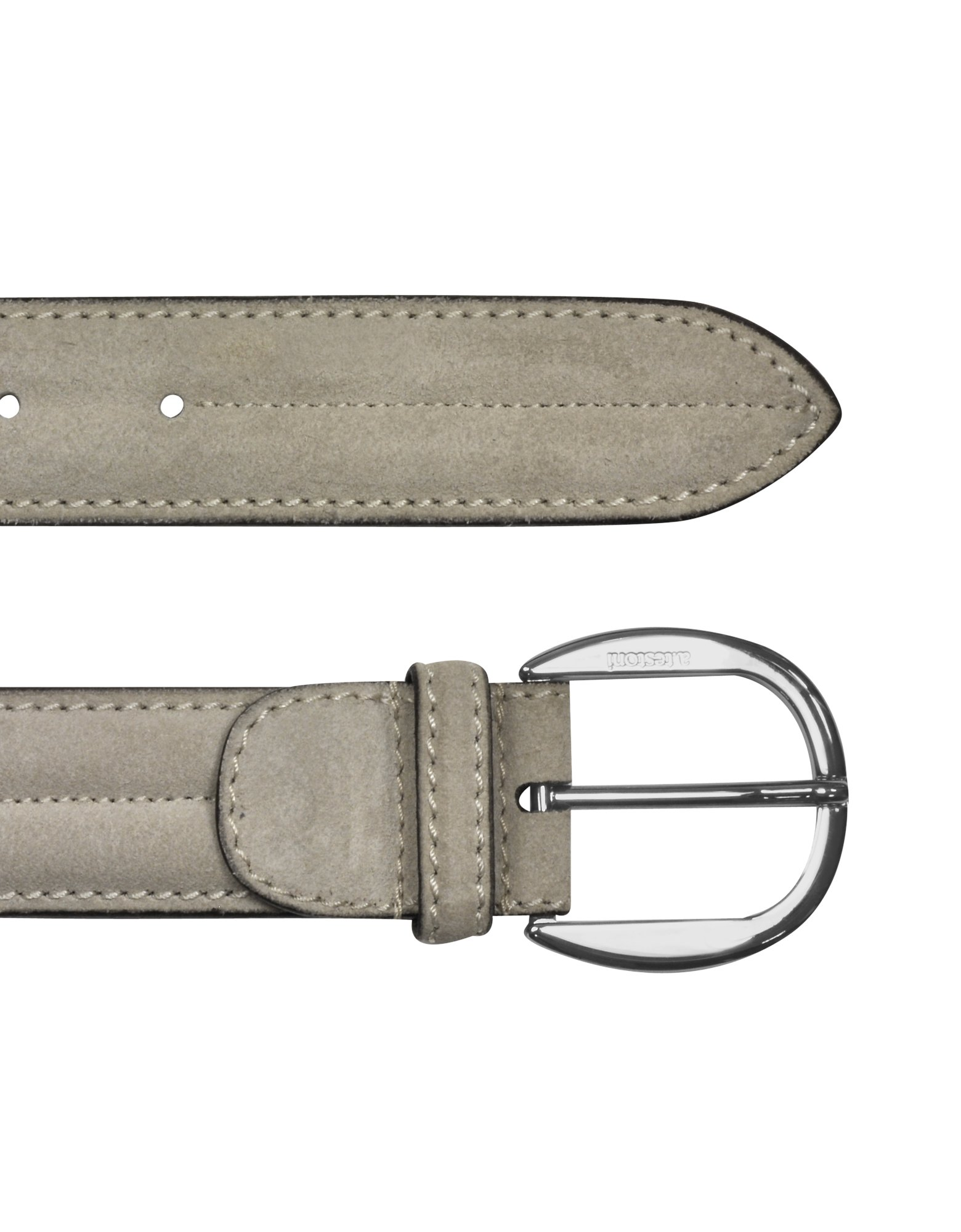 a testoni mens ivory suede calf leather belt in white for