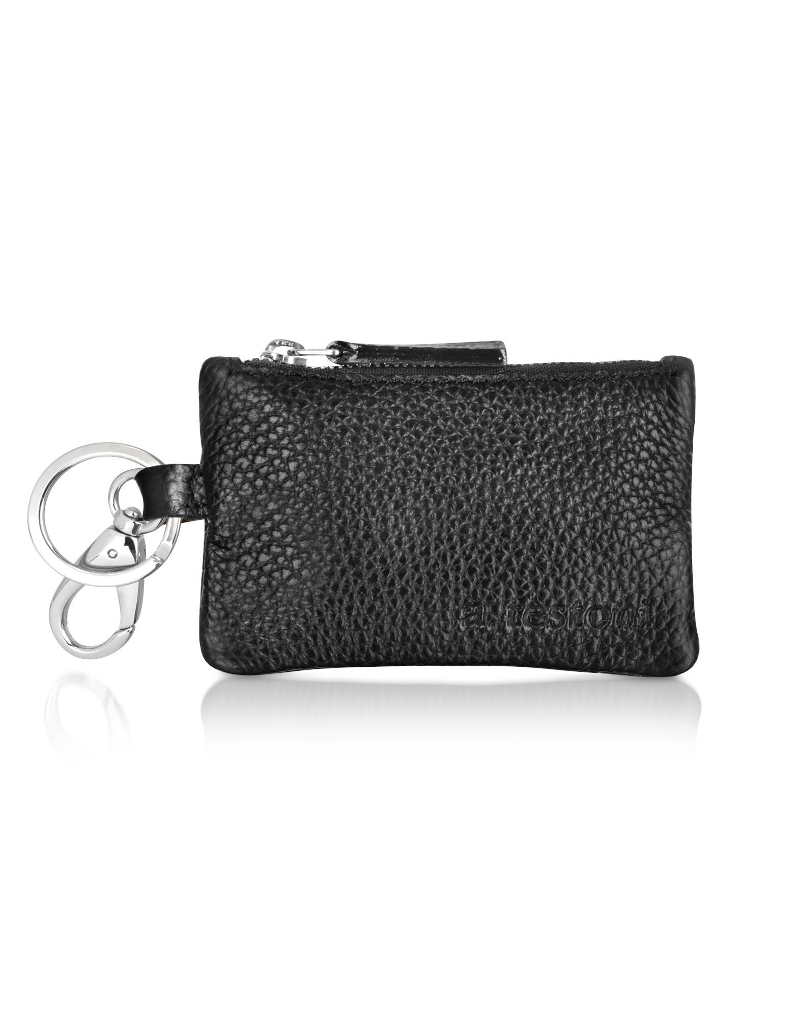 caribou leather pouch key ring in black lyst. Black Bedroom Furniture Sets. Home Design Ideas