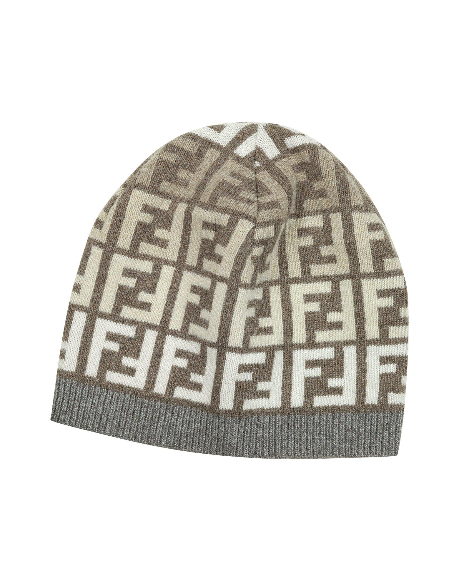 7ae355601e5 Lyst - Fendi Zucca Logo Skull Cap in Gray