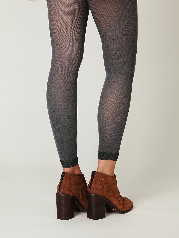 d3e59a258 Free People Sheer Heather Footless Tight in Black - Lyst