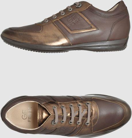 gianfranco ferr 233 gf ferre sneakers in brown for lyst
