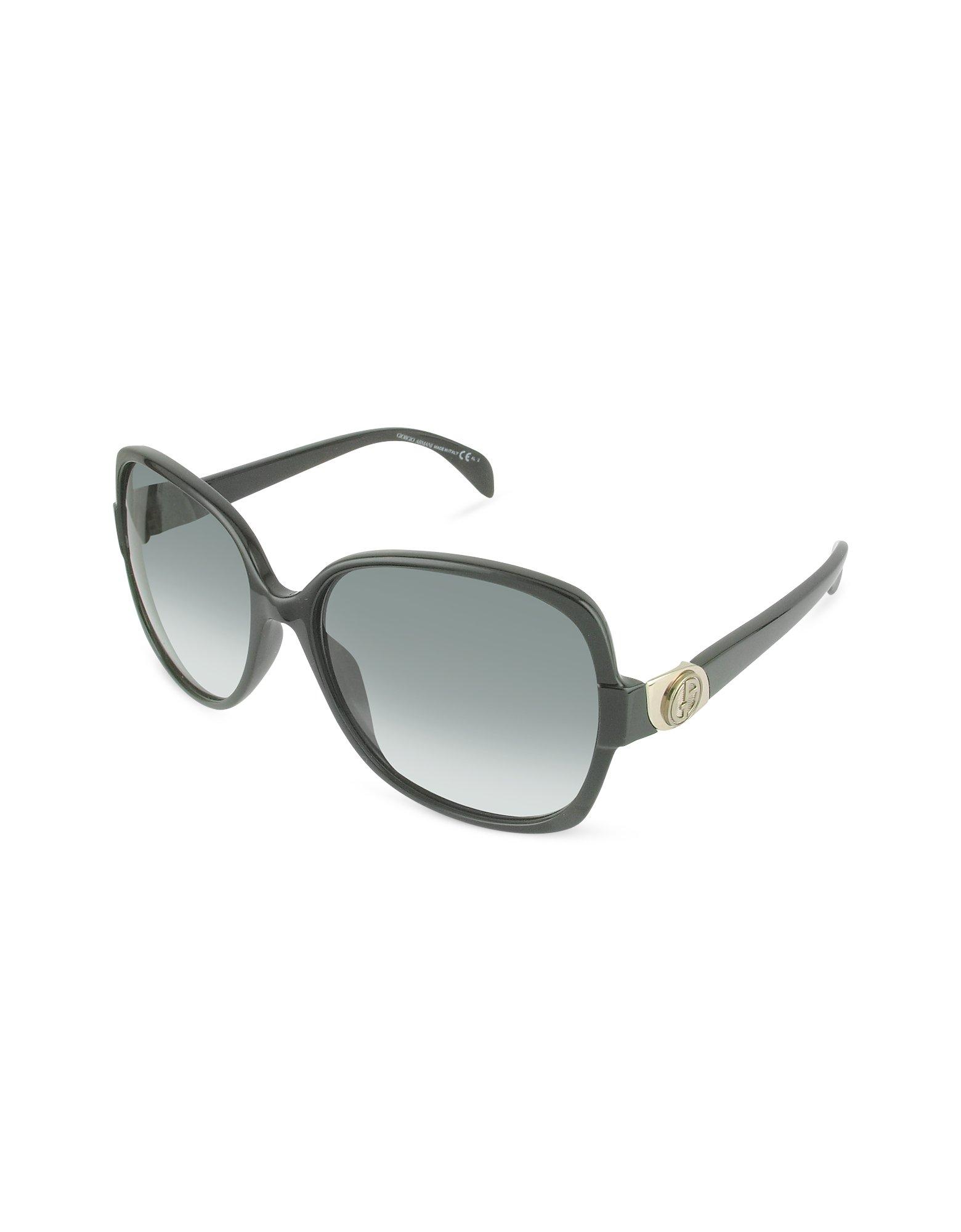 245c05836a0 Lyst - Giorgio Armani Logo Round Sunglasses in Green