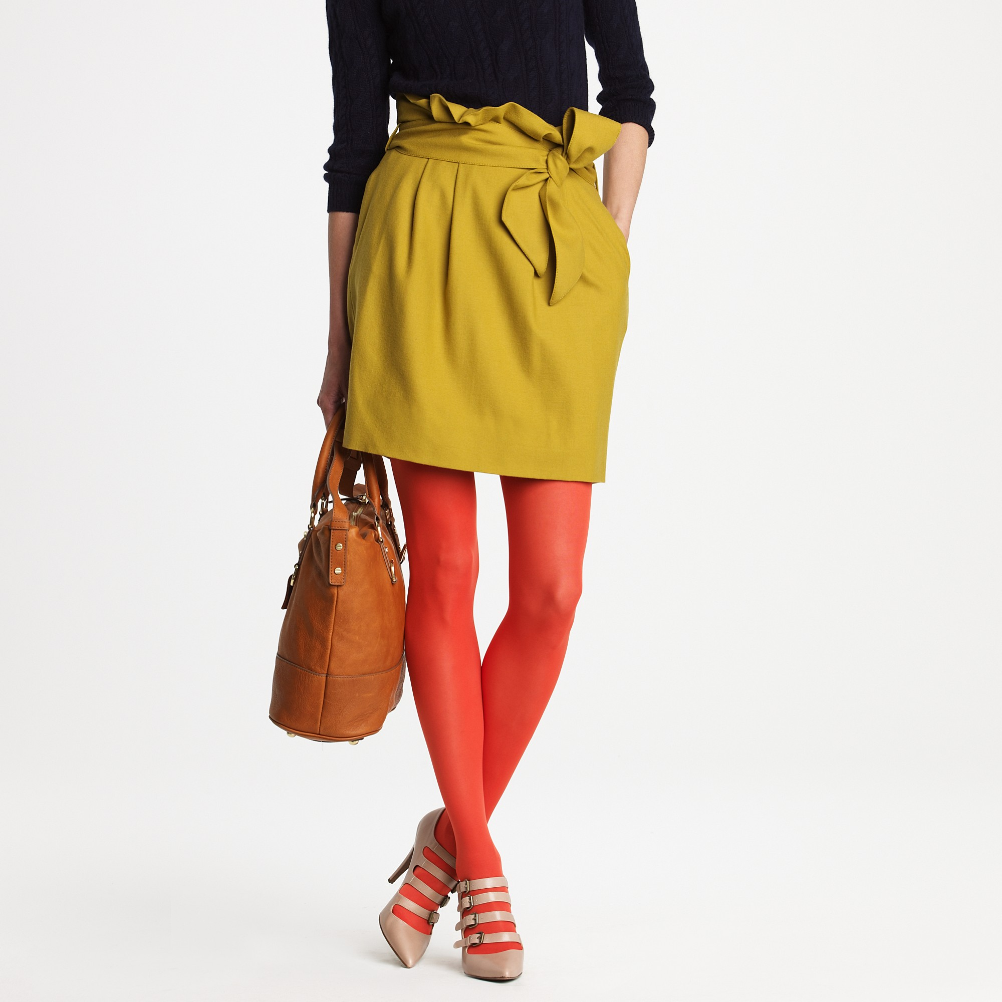 1c0f4d0e6c8 Lyst - J.Crew Solid Opaque Tights in Red