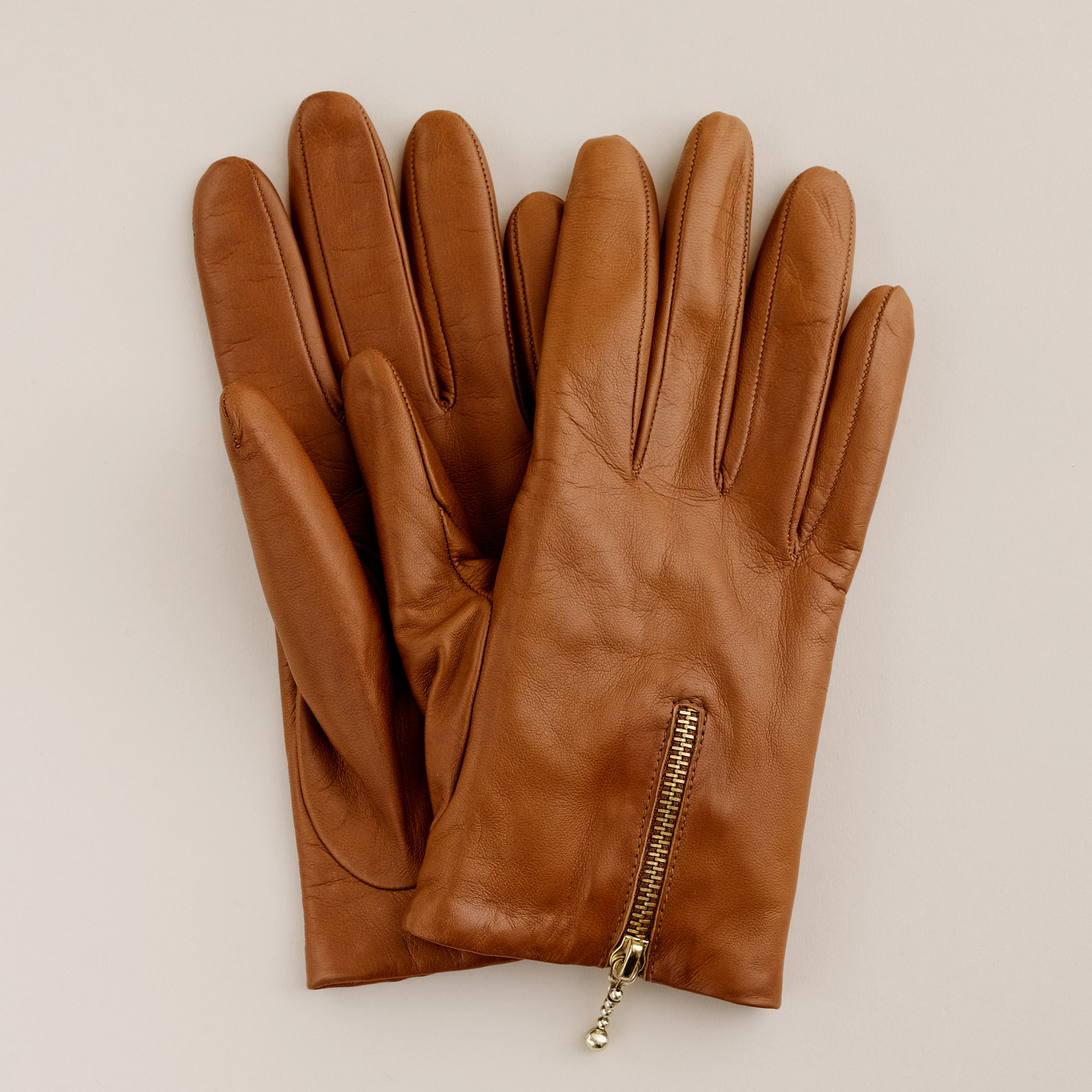 Leather driving gloves with zipper - Gallery Women S Leather Gloves