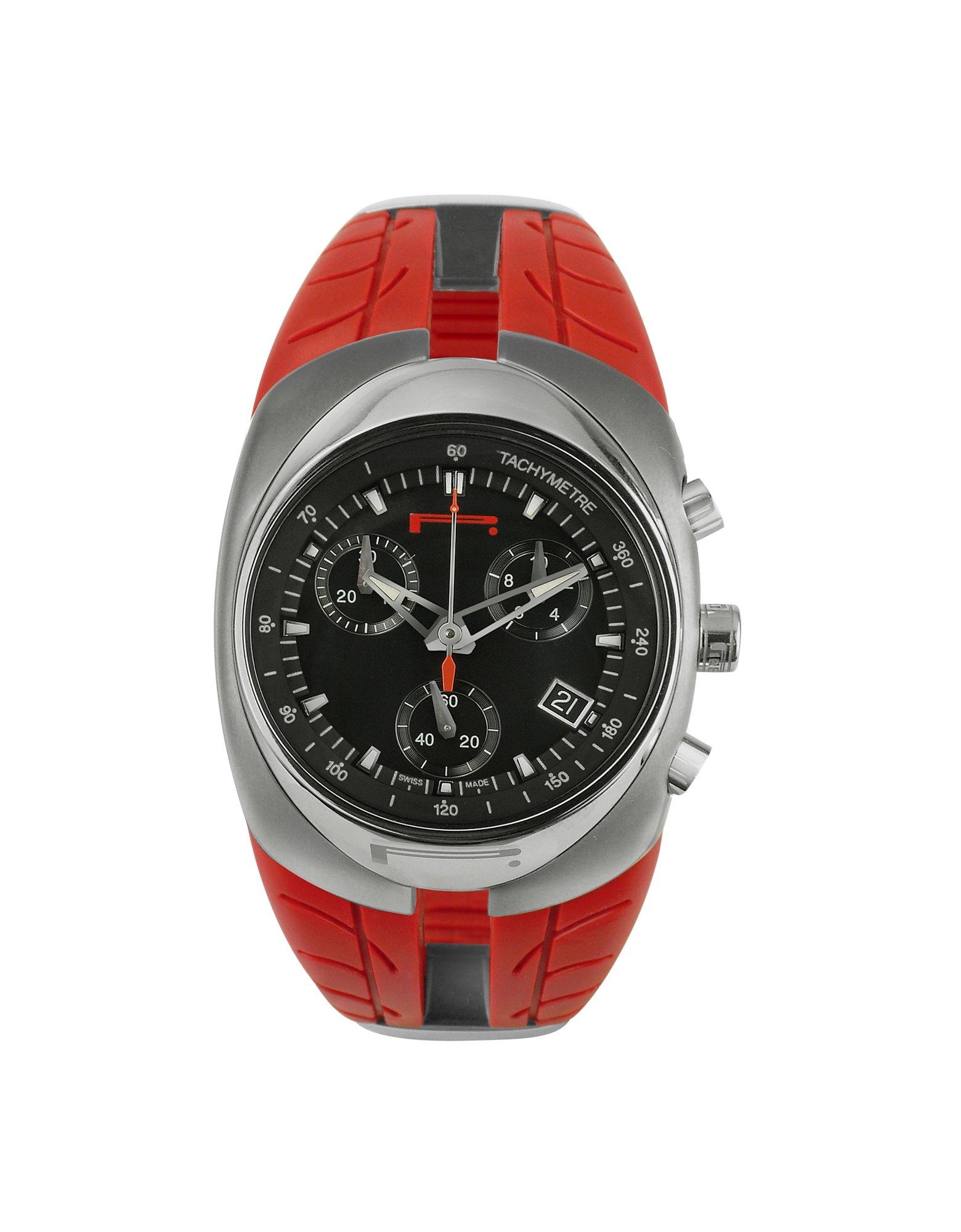 Lyst - Pirelli Pzero P Zero - Womens Red Rubber Strap Chrono Watch in Red