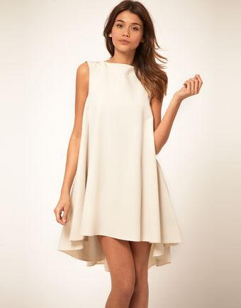 ASOS Collection Asos Swing Dress with Dipped Hem - Lyst