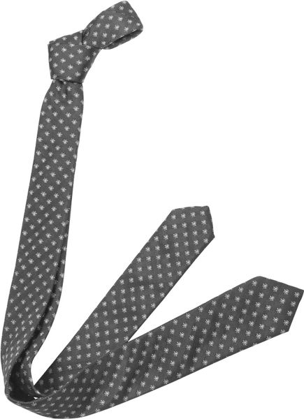 Dior Narrow Bee Logo Silk Tie in Blue for Men (white)