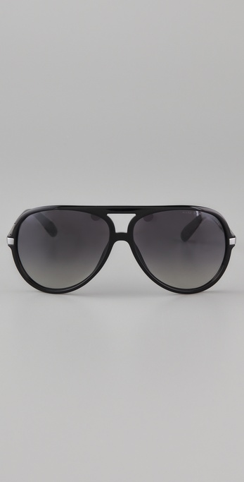 Marc Jacobs Oversized Aviator Sunglasses  marc by marc jacobs oversized aviator sunglasses in black lyst