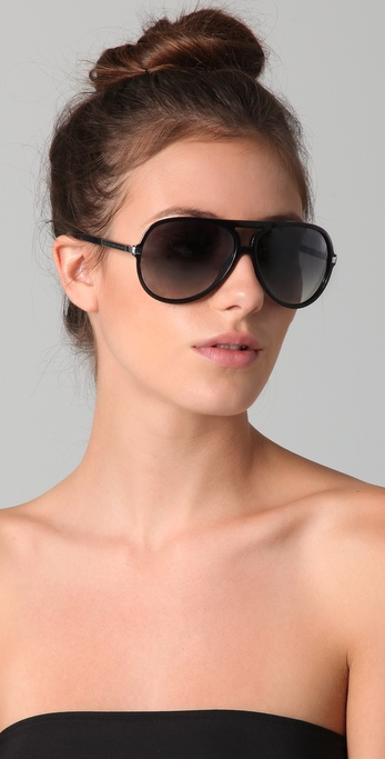 Oversized Aviator Sunglasses  marc by marc jacobs oversized aviator sunglasses in black lyst