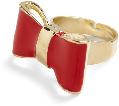 Modcloth Highs and Bows Ring in Red (ruby) - Lyst