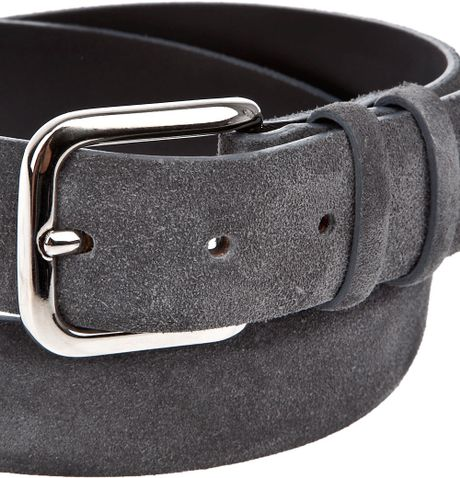 Orciani Suede Belt In Gray For Men Grey Lyst