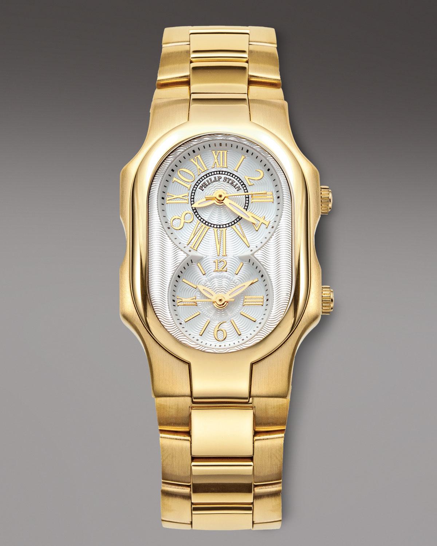 Lyst Philip Stein Classic Bracelet Watch Golden In