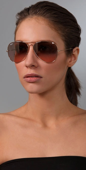 Oversized Aviators Sunglasses  ray ban oversized original aviator sunglasses in metallic lyst