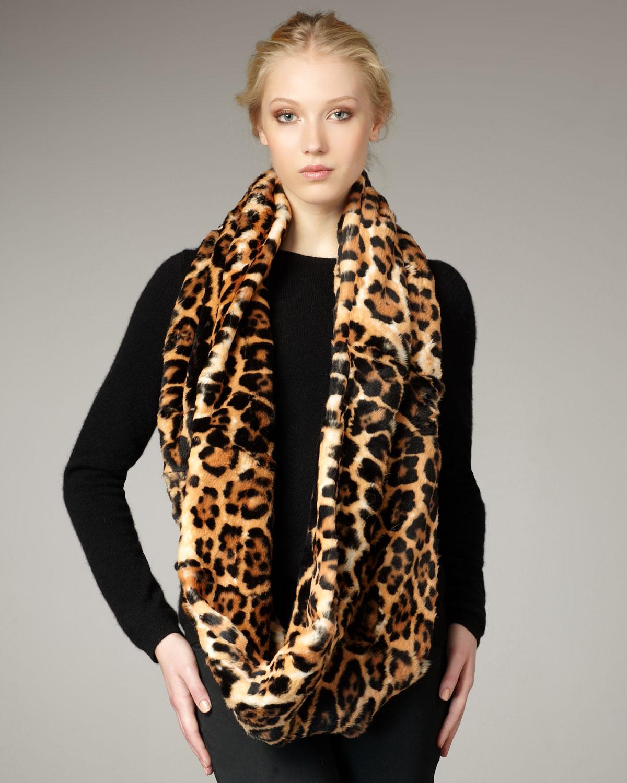 Saint laurent Leopard-print Fur Snood in Animal   Lyst