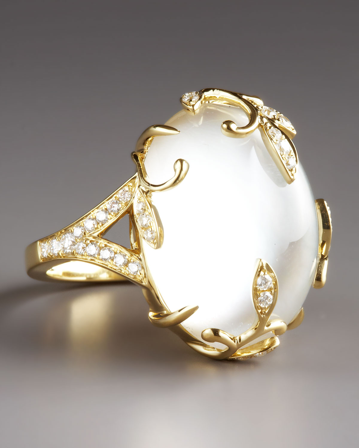 Mother Of Pearl White Gold Ring
