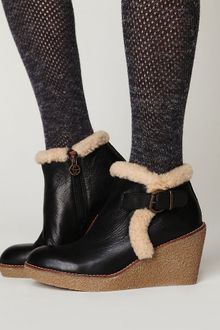 Free People Tumbled Wedge Ankle Boot - Lyst