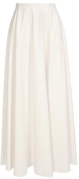 Maison Martin Margiela Perforated A-line Maxi Skirt in White