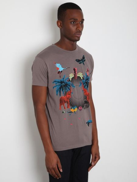 marc jacobs marc by mens dystopia t shirt in gray for men