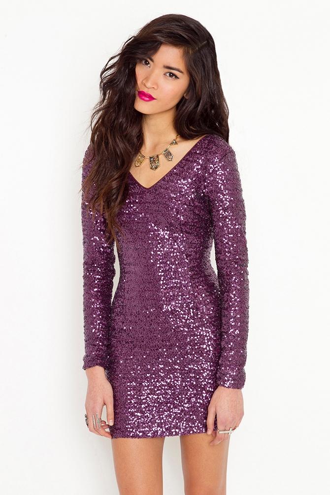 ea1cfd362b Lyst - Nasty Gal Ella Sequin Dress in Purple