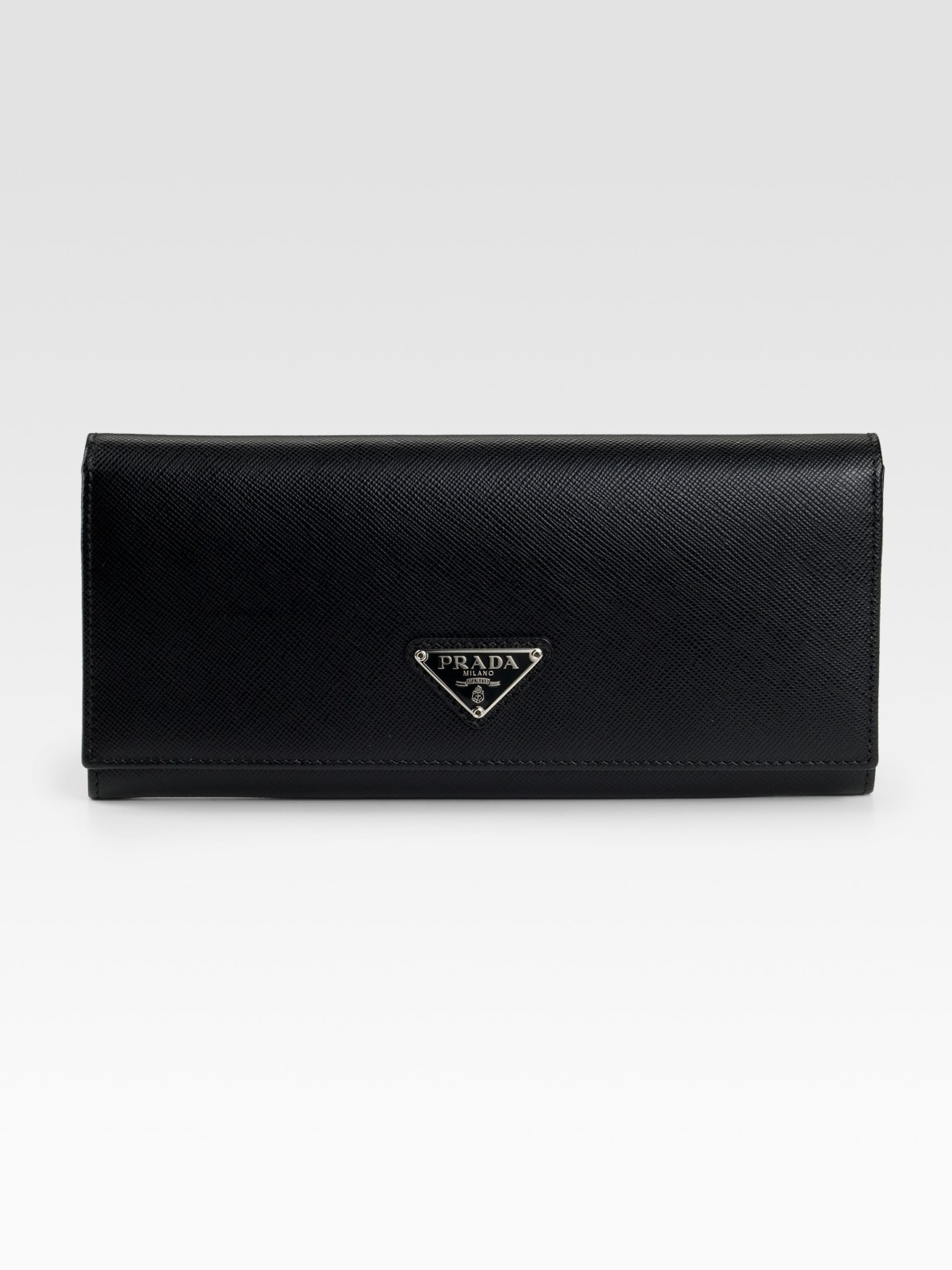 c6f400530529c9 Prada Saffiano Flap Wallet Black | Stanford Center for Opportunity ...