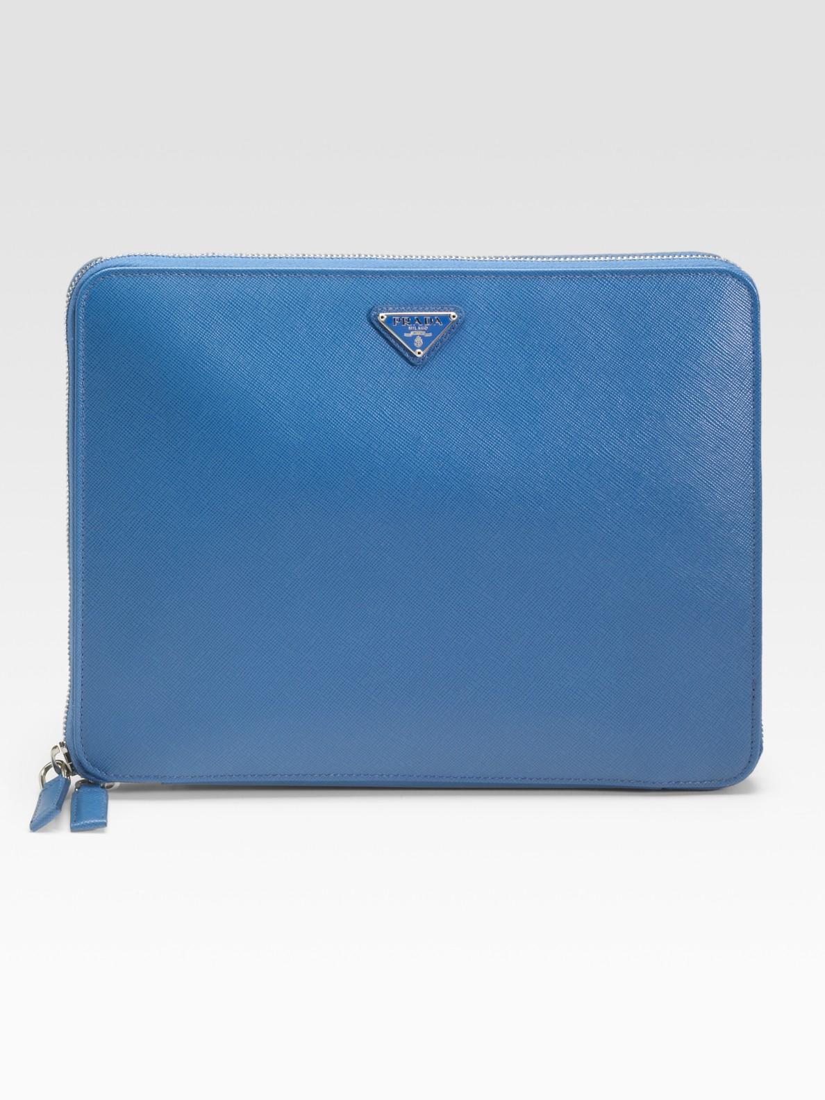 Lyst - Prada Saffiano Travel Case For Ipad in Blue for Men