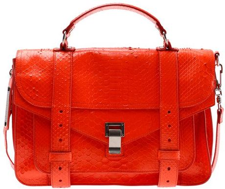 Proenza Schouler Ps1 Medium Leather in Red