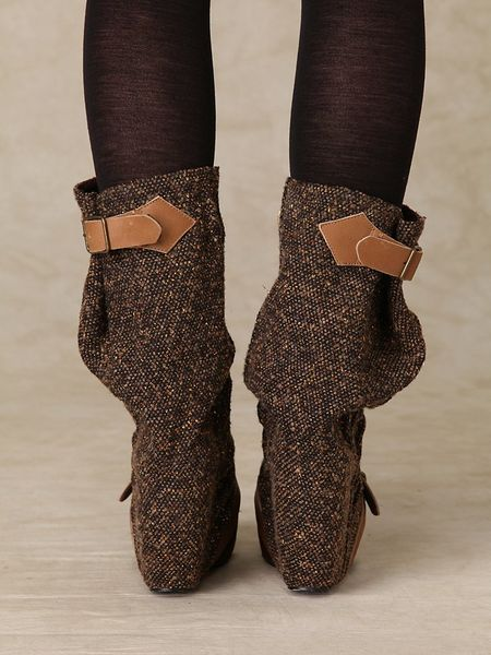 Free People Longer Lashes Clog Boot In Brown Lyst