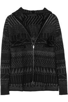 Alexander Wang Intarsia Hooded Wool-blend Cardi-coat - Lyst
