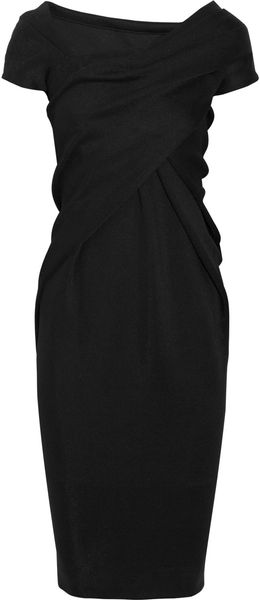 Donna Karan New York Draped Stretch-jersey Dress - Lyst