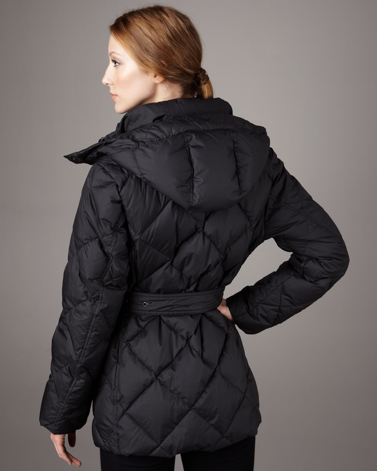Lyst Burberry Brit Short Quilted Puffer Coat In Black