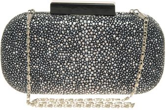 ASOS Collection Asos Premium Leather Faux Stingray Clutch - Lyst