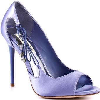Badgley Mischka Wanda - Blue Satin - Lyst