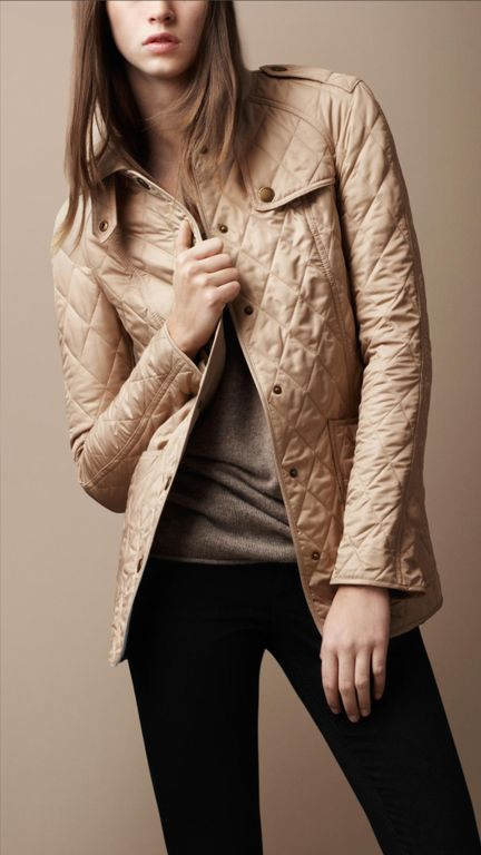 Burberry Brit Diamond Quilted Jacket. Diamond quilted jacket with heritage ...