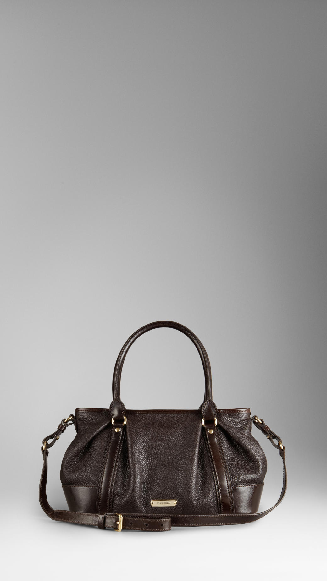 46c82c6df697 Burberry Medium Leather Bowling Bag in Brown - Lyst