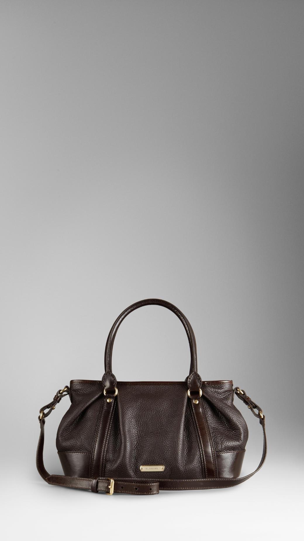 Burberry Medium Leather Bowling Bag in Brown - Lyst f309610c0ec91