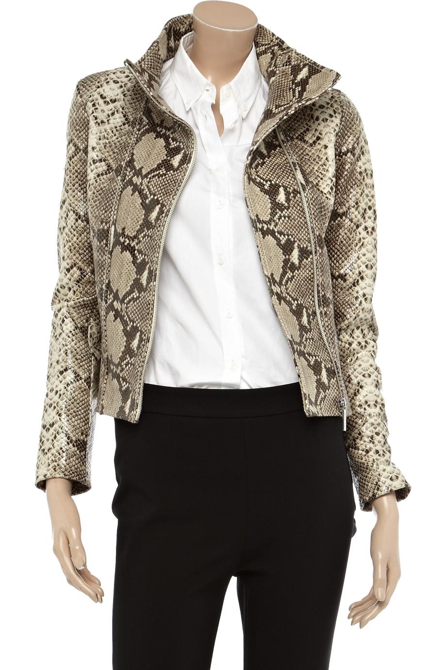 Michael kors gray leather jacket