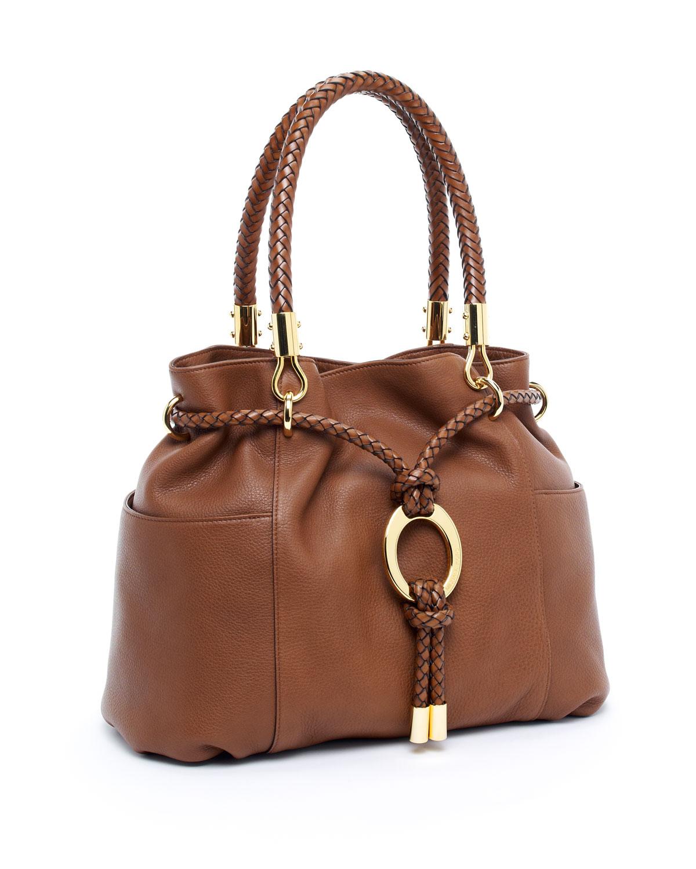 Best Price Michael Kors Skorpios Totes - Bags Michael Kors Cinnamon Skorpios Drawstring Satchel Cinnamon