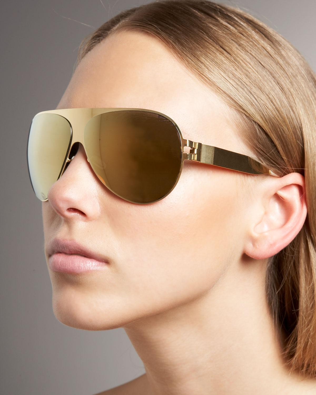 58612cf70c Mykita Shield Aviator Glasses in Metallic - Lyst