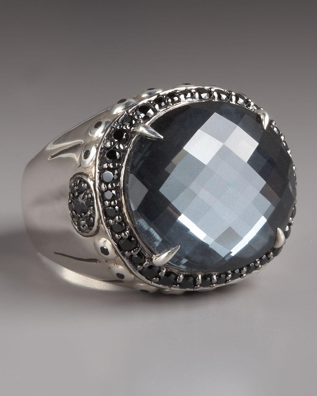 Lyst John Hardy Bamboo Hematite Ring In Metallic