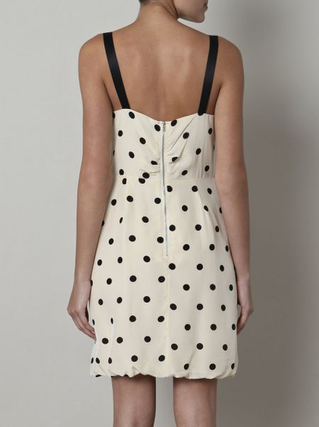 Marc By Marc Jacobs Polka Dot Dress In Beige Ivory Lyst