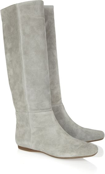 Donna Karan New York Suede Knee Boots - Lyst