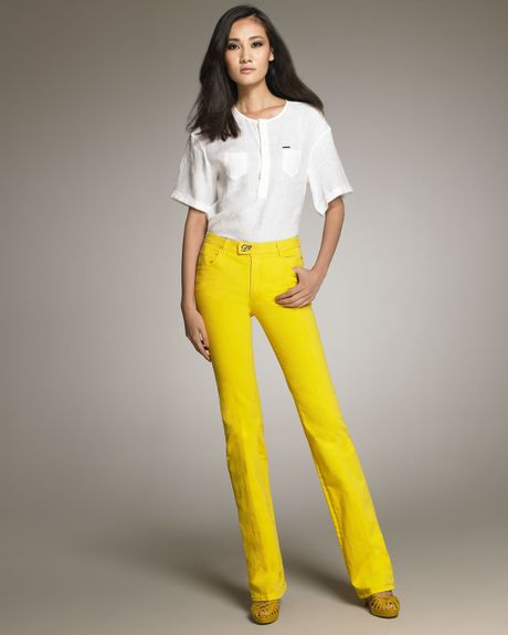 Dsquared2 Flared Jeans in Yellow